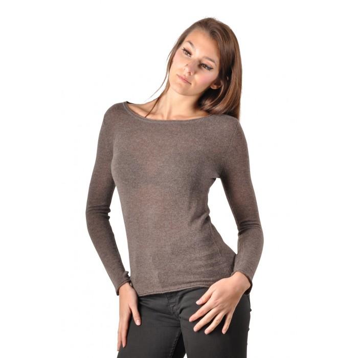 Très Pull cachemire femme : Modèle LIDA, 100% cachemire, Dos nu WT61